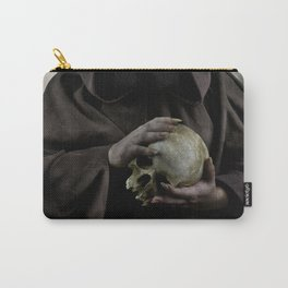 Holding a male skull Carry-All Pouch