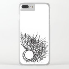 visual pattern of exotic lines Clear iPhone Case
