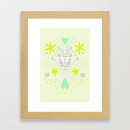 Symmetrical flora Framed Art Print