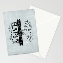 Take Time - Blue Stationery Cards