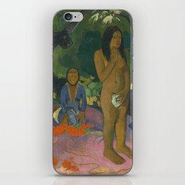 Paul Gauguin Parau na te Varua ino (Words of the Devil) 1892 Painting iPhone Skin