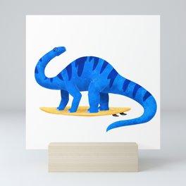 Awsome Apatosaurus Surfing Mini Art Print