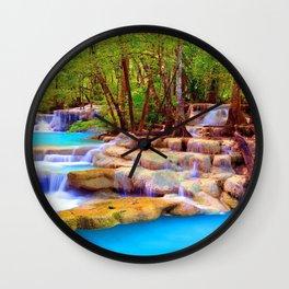 Erawan Falls Erawan National Park Kanchanaburi Thailand Ultra HD Wall Clock
