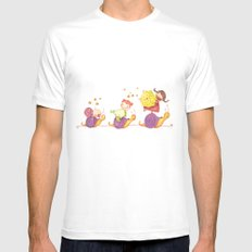 Babies in a snails Mens Fitted Tee MEDIUM White