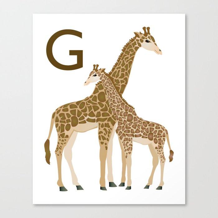Alphabet Print - G Canvas Print