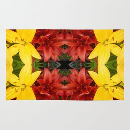 """""""A Gathering of Lilies"""" Remix - 3 (1-1) [D4468~49] Rug"""