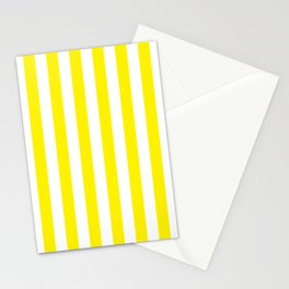 Vertical Yellow Stripes Stationery Cards