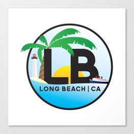 Long Beach CA Logo Design Canvas Print