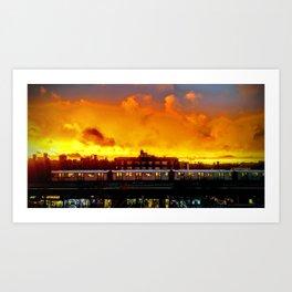 Bronx Sunset Art Print