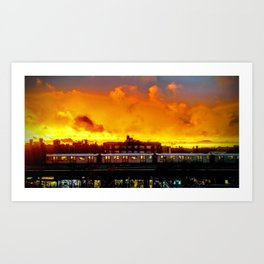 Bronx Sunset Art Print