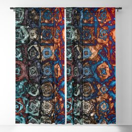 Twirling Swirling Madness Blackout Curtain