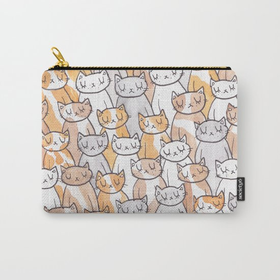 Sleepy Cats Carry-All Pouch