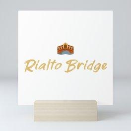Rialto Bridge Souvenir Mini Art Print