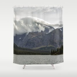 Clouds Over Mt Gould Shower Curtain