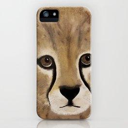Cheetah Cub - Original Textured Painting iPhone Case