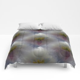 White Tulip Detail Comforters