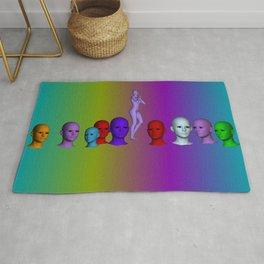 rainbow heads Rug