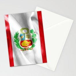 Peru Flag Stationery Cards