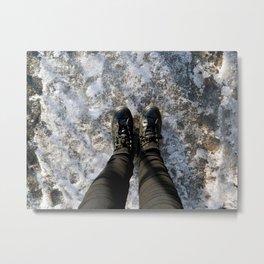 Snow Pattern, NYC Metal Print