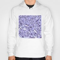 paris map Hoodies featuring paris map by Bekim ART