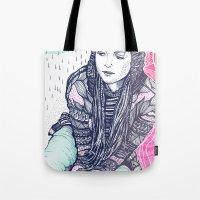 daria Tote Bags featuring daria by Andon Georgiev