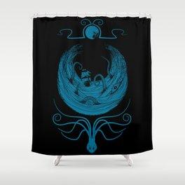 Kraken's Whirlpool Shower Curtain