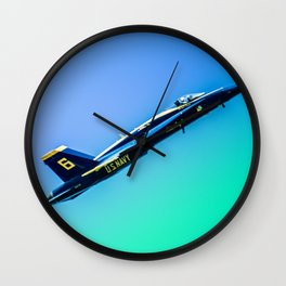 Blue Angles Rise Wall Clock