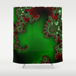Mandelbrot - Green Shower Curtain