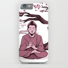 Buddha Relaxing iPhone Case