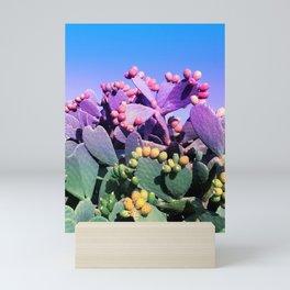 Sweet Rainbow Tropical Cactus #tropicalart #decor Mini Art Print