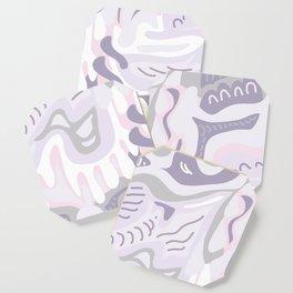 Modern Paisley Muted Purple Coaster