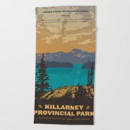 Killarney Park Poster Beach Towel