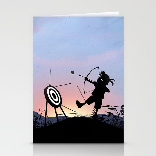 Hawkeye Kid Stationery Cards