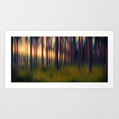 Chorus of trees Art Print