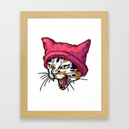 The Cat in the Hat (Calico) Framed Art Print