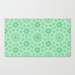 Rings of Flowers - Color: Mint Julep Canvas Print