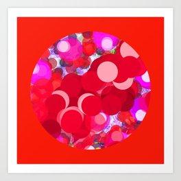 SEXY PLEXI DOTS FULL OF RED LOVE  Art Print