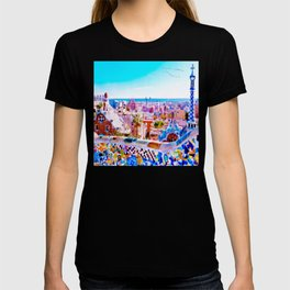 Park Guell Watercolor painting T-shirt