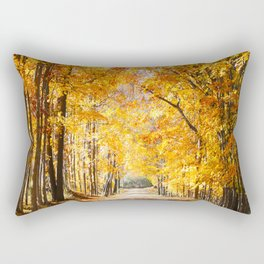 Michigan, Golden Road Rectangular Pillow