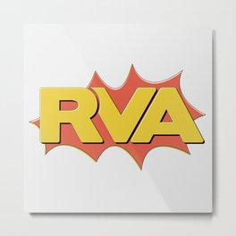 Rva Logo | ' Comic 1 Style ' Metal Print