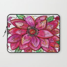 Vibrant Watercolor Flower Laptop Sleeve