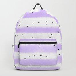 Modern pastel lavender black splatters stripes motif Backpack