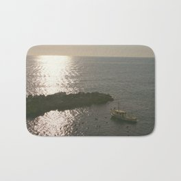 Fishing Liguria at Sunset Bath Mat