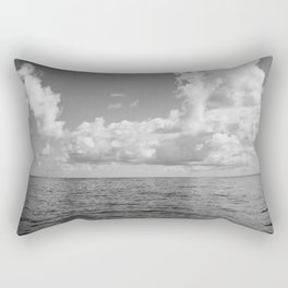 Monochrome Ocean View Rectangular Pillow
