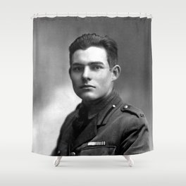 Ernest Hemingway in Uniform, 1918 Shower Curtain