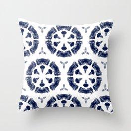 Shibori Shroom Throw Pillow