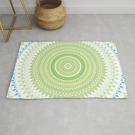 Blue Green Mandala Rug