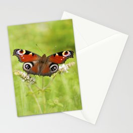 The European peacock butterfly Stationery Cards