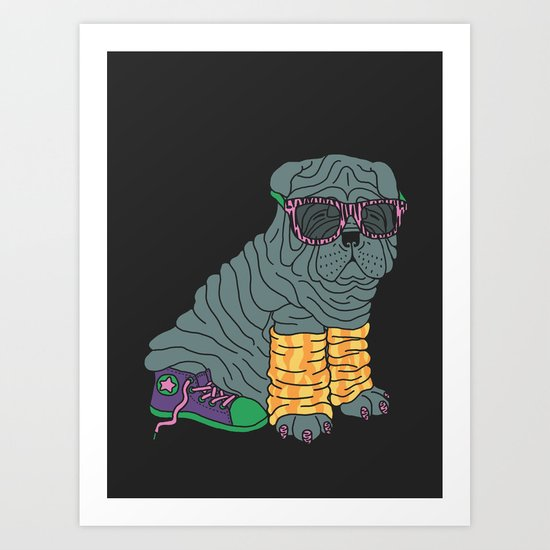 Sharpei Glam Art Print