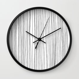 LINE - Poetry of the Pen Series by Cooper and Colleen Wall Clock